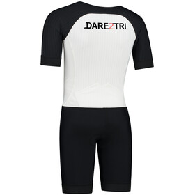 Dare2Tri Aero Combinaison de triathlon à manches courtes Homme, white/black
